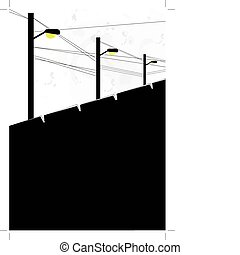 Abstract wire pole