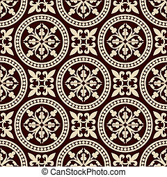 Antique seamless pattern - A vector illustrated tileable...