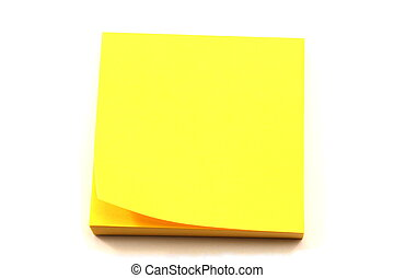Stack of Yellow Note Pads - A stack of yellow sticky note...