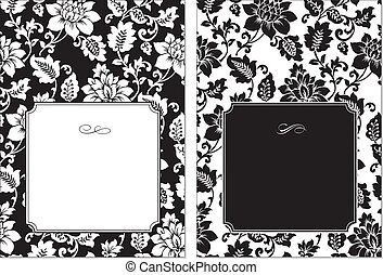 Vector Floral Frame Set