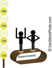 Abstract games contests