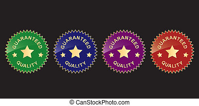 guaranty labels - vector guaranty labels