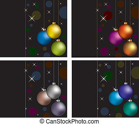 greeting cards - vector set of greeting cards