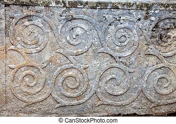 patrón, ornamento, Neolítico, templos