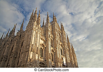 Duomo di Milano - View of Duomo of Milano, one of the most...
