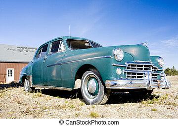 antique automobile near Alexander, Maine, USA