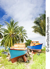 fishing boats, Barbados - fishing boats, Six Mens Bay,...