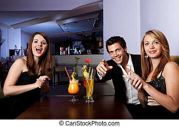 Group of friends having fun - Group of friends enjoying...