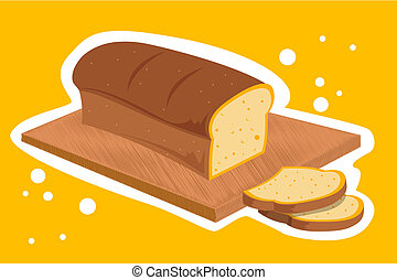 bread loaf - illustration of bread loaf on abstract...