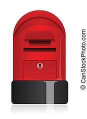 letter box - illustration of letter box on white background