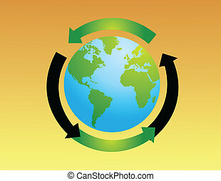 World globe vector illustration
