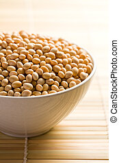 soya beans in ceramic bowl - the soya beans in ceramic bowl