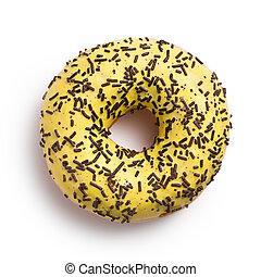 sweet doughnut on white - the sweet doughnut on white...