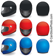 Motorcycle helmet - Vector illustration of motorcycle...