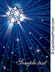 Mirror disco ball - Vector illustration of mirror disco ball...