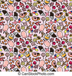 seamless candy pattern  - seamless candy pattern