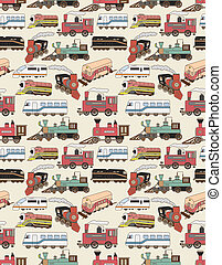 seamless Trains pattern  - seamless Trains pattern