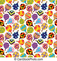 seamless Hot air balloon pattern - seamless Hot air balloon...