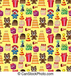 seamless birthday pattern  - seamless birthday pattern