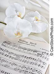 Wedding march and orchids - Sheet music wedding march and...