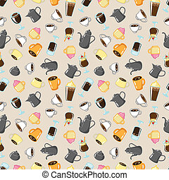 seamless coffee pattern
