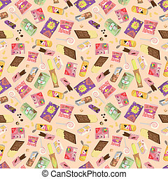seamless snacks pattern  - seamless snacks pattern