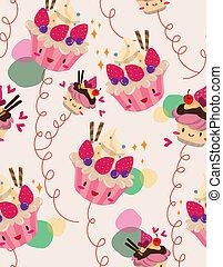 seamless cake pattern  - seamless cake pattern