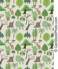 seamless tree pattern  - seamless tree pattern