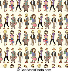 seamless shopping pattern  - seamless shopping pattern