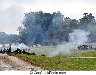 Civil War Re-enactment - Group battle