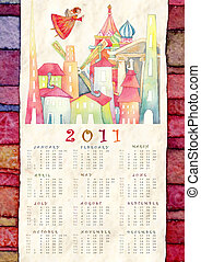 calendar 2011 - background with calendar 2011