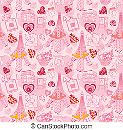 seamless Paris pattern  - seamless Paris pattern