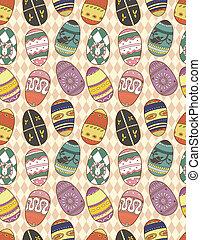 seamless Easter Egg pattern  - seamless Easter Egg pattern