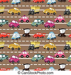 seamless car pattern  - seamless car pattern