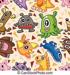 seamless monster pattern  - seamless monster pattern