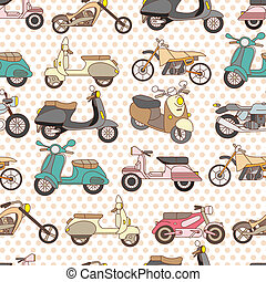 seamless motorcycle pattern  - seamless motorcycle pattern