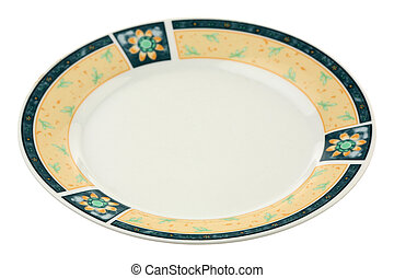 Dish - One small plate it is isolated on a white background