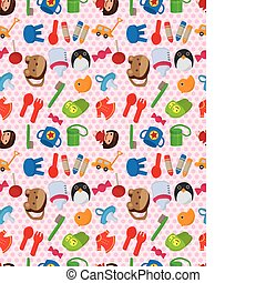 seamless baby toy pattern