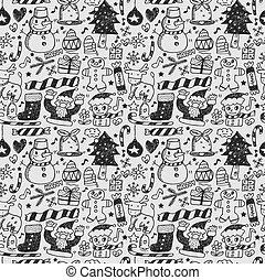 seamless christmas pattern  - seamless christmas pattern