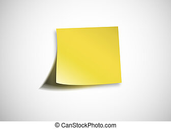 Virgin yellow paper on a white wall