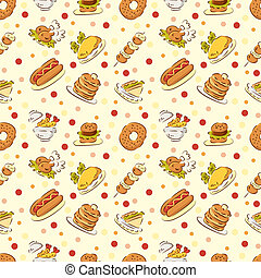 seamless cute food pattern