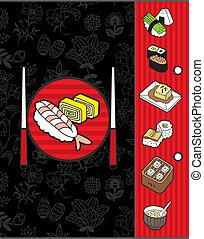 japan menu template