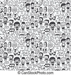 seamless cartoon pattern