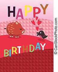 birthday card  - birthday card