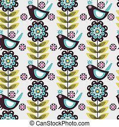 pattern flower bird