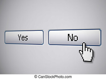 No Yes buttons