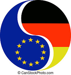 Germany and the EU - Symbol to show the relationship and...