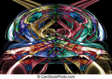 抽象的, 芸術, 煙