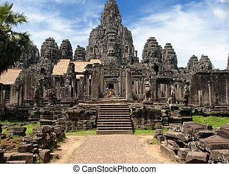 Bayon Tower, Angkor Wat, Cambodia