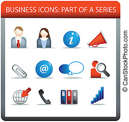 business icon series 2 - modern business icon set of...